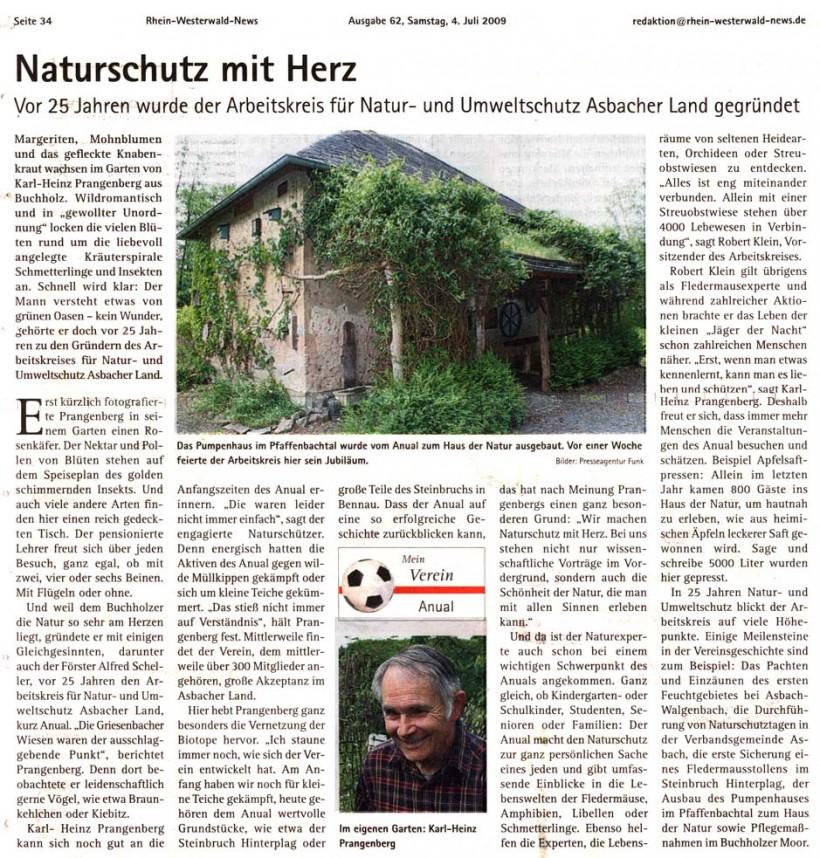 Rhein-Westerwald-News 4.7.2009