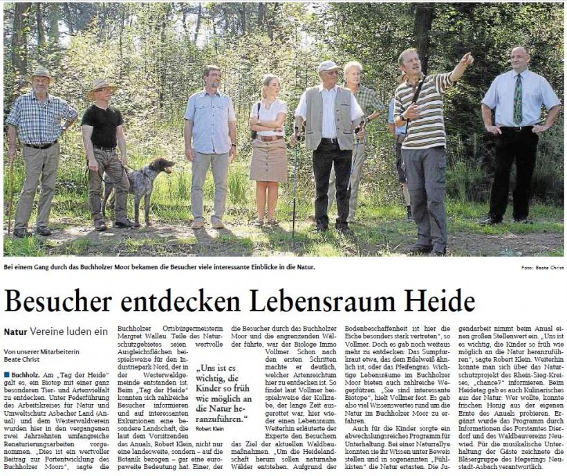 Rhein-Zeitung vom 1.9.2015
