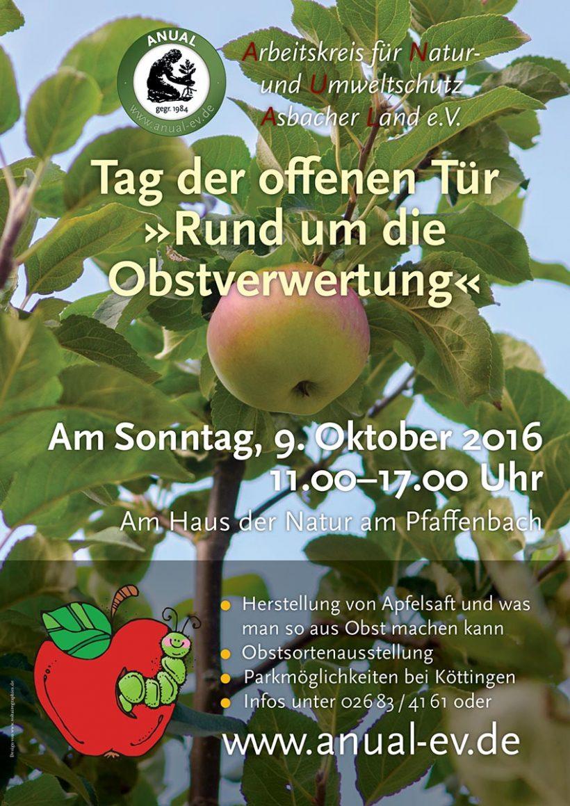 Am 9.10.'16 Tag der offenen Tür »Rund um die Obstverwertung«