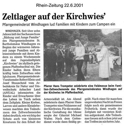 Rhein-Zeitung 22.6.2001