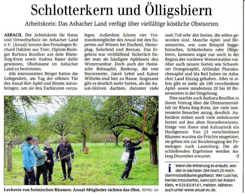 General-Anzeiger 8.10.2013