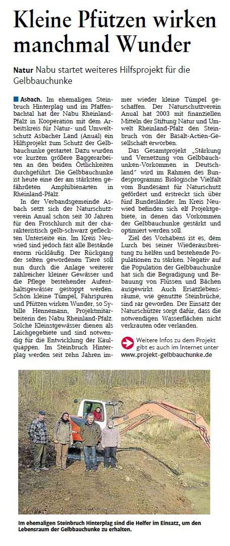 Rhein-Zeitung 12.02.2014