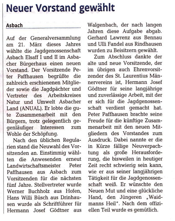 Rhein-Zeitung 4.04.2014