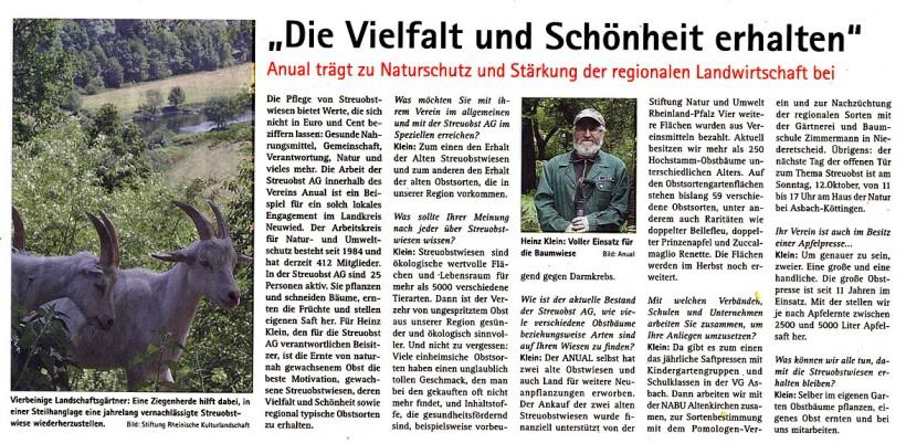 Rhein-Westerwald News 9.8.2014