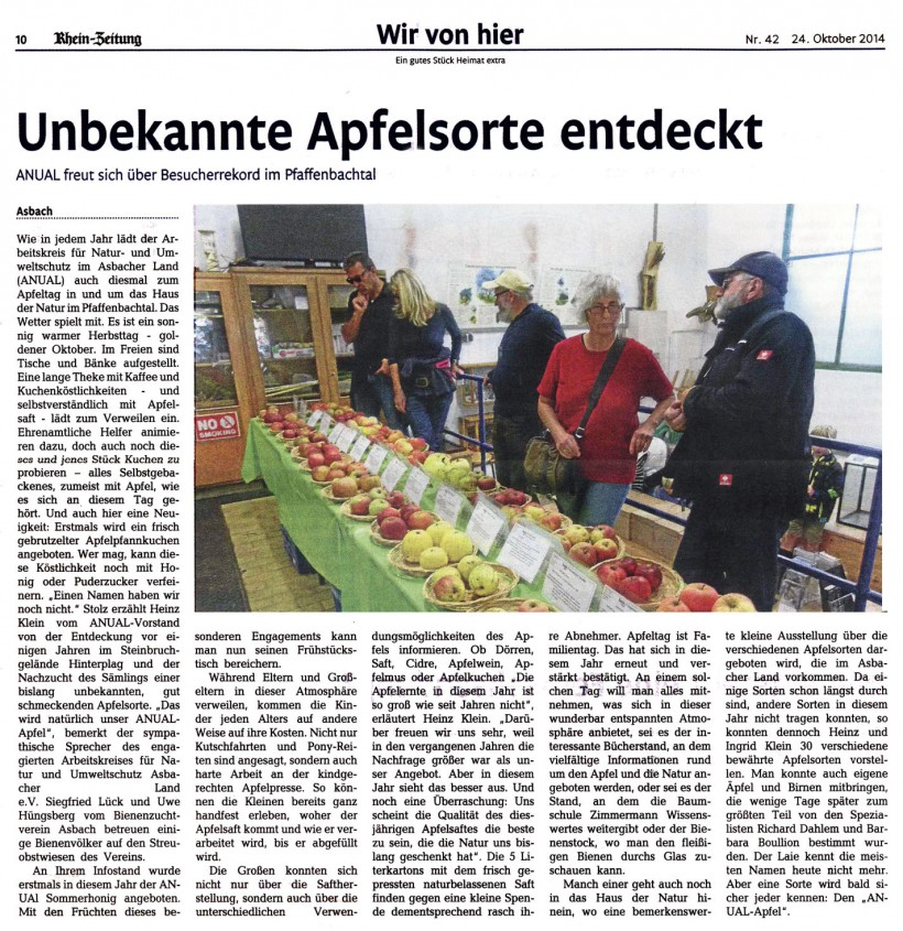 Rhein-Zeitung 24.10.2014