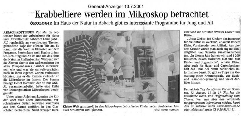 General-Anzeiger 13.7.2001