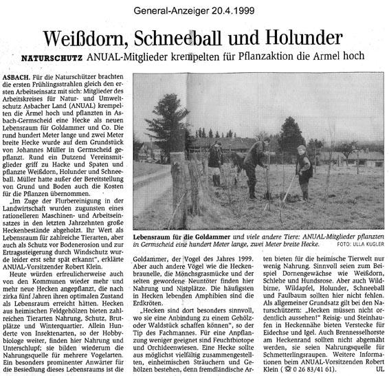 General-Anzeiger 20.4.1999