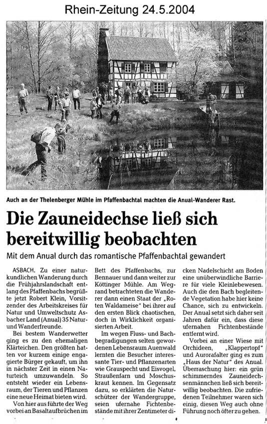 Rhein-Zeitung 24.5.2004