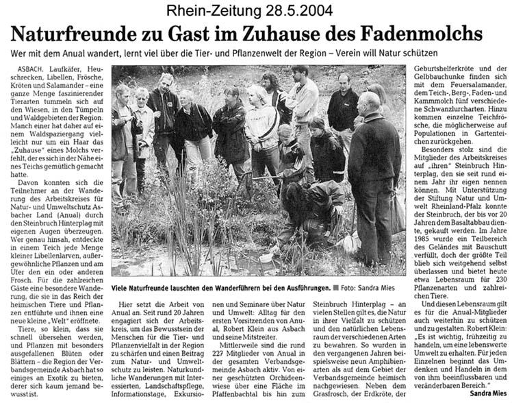 Rhein-Zeitung 28.5.2004