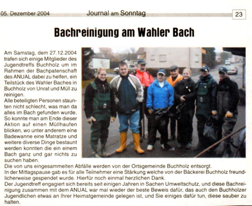Journal am Sonntag 5.12.2004