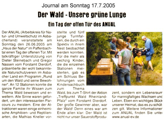 Journal am Sonntag 17.7.2005