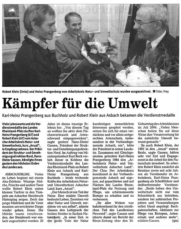 Rhein-Zeitung 15.12.2005