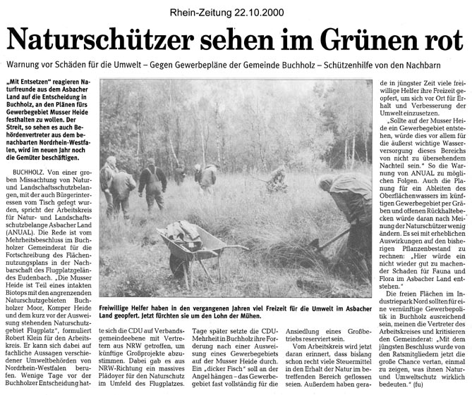 Rhein-Zeitung 22.12.2000