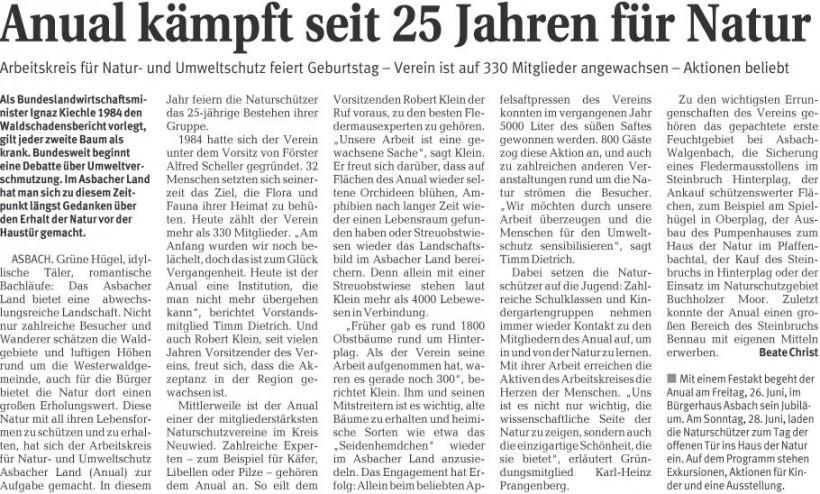 Rhein-Zeitung 17.6.2009