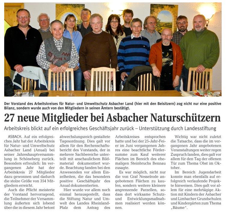 Rhein-Zeitung 25.03.2010