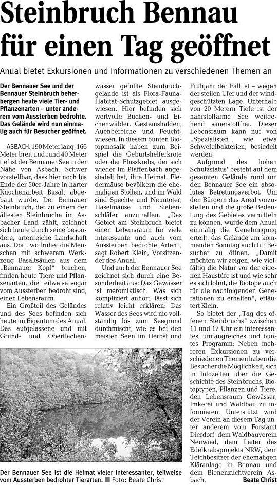 Rhein-Zeitung 18.06.2010