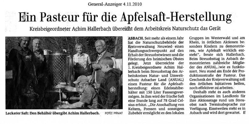 General-Anzeiger 4.11.2010
