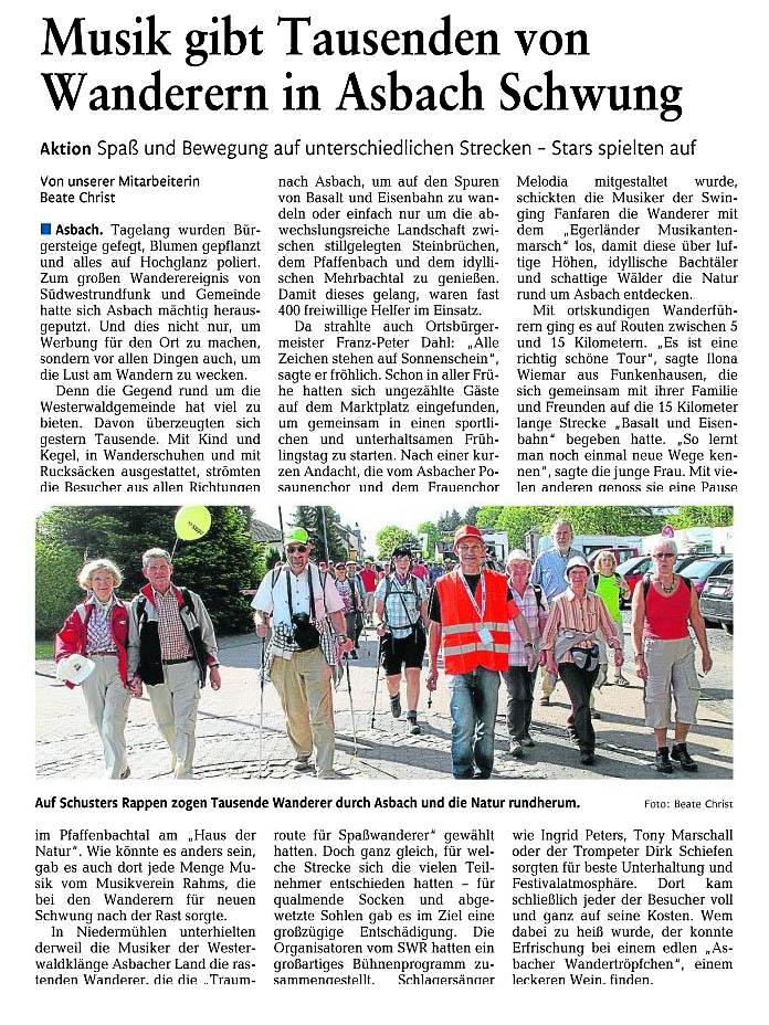 Rhein-Zeitung 9.5.2011
