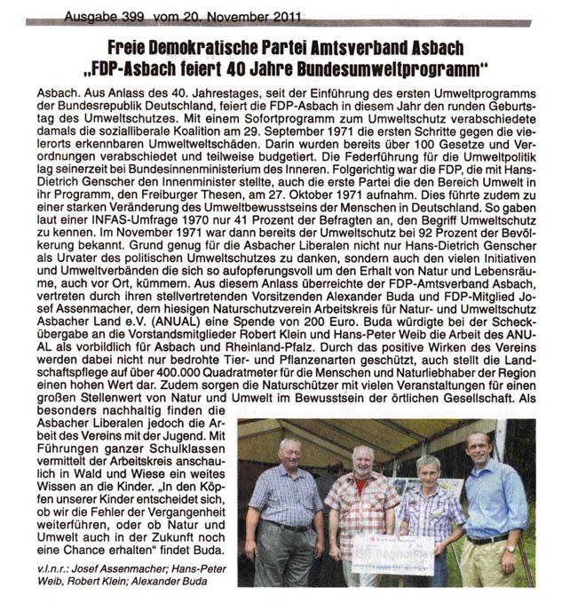 Journal am Sonntag 20.11.2011