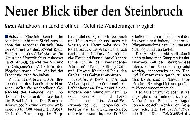 Rhein-Zeitung 3.5.2012