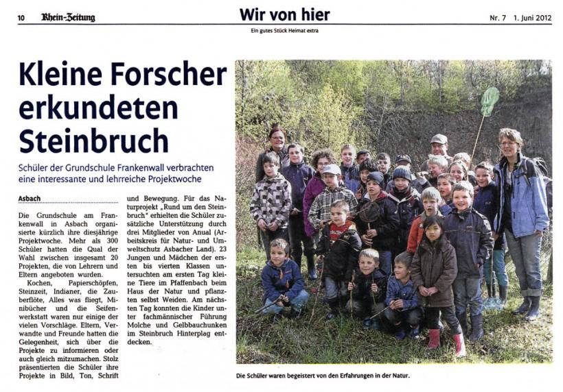 Rhein-Zeitung 01.06.2012
