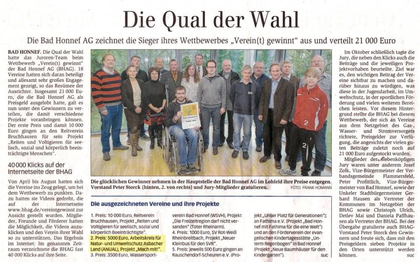 General-Anzeiger 2.11.2012