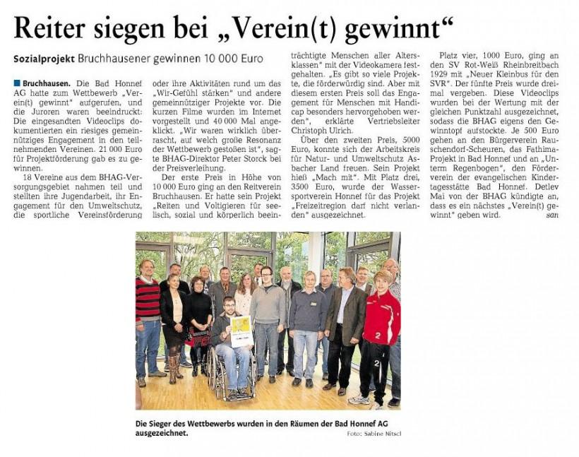 Rhein-Zeitung 9.11.2012