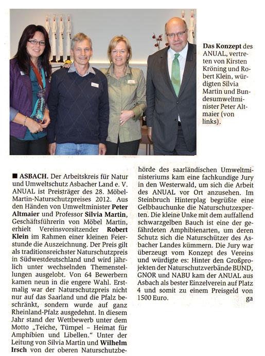 General-Anzeiger 22.11.2012