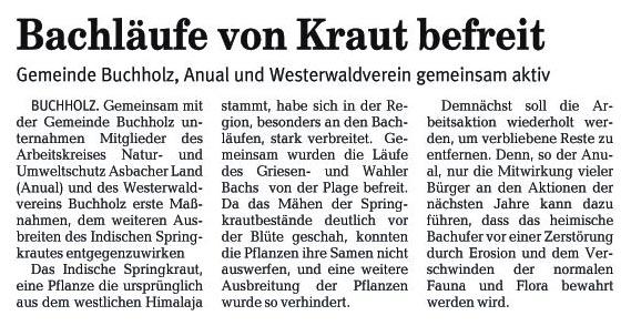 Rhein-Zeitung 7.7.2006