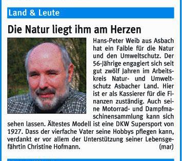 Rhein-Zeitung 20.10.2006
