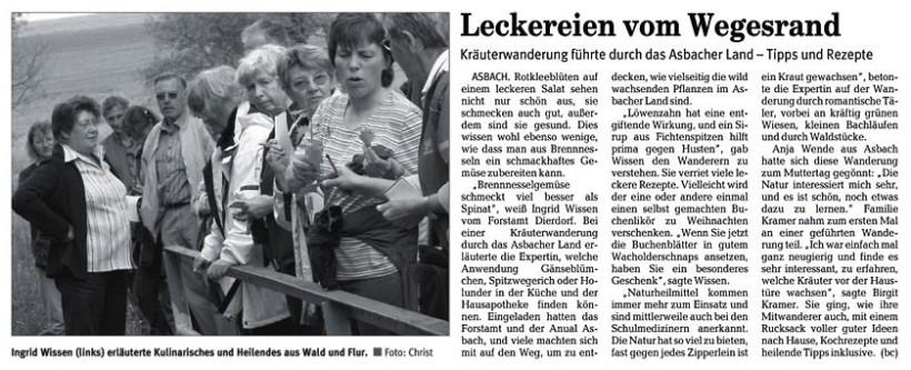 Rhein-Zeitung 14.5.2007
