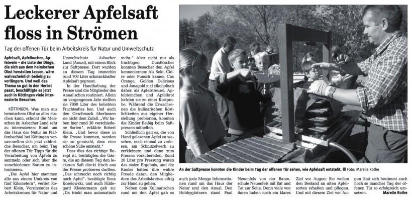 Rhein-Zeitung 16.10.2007