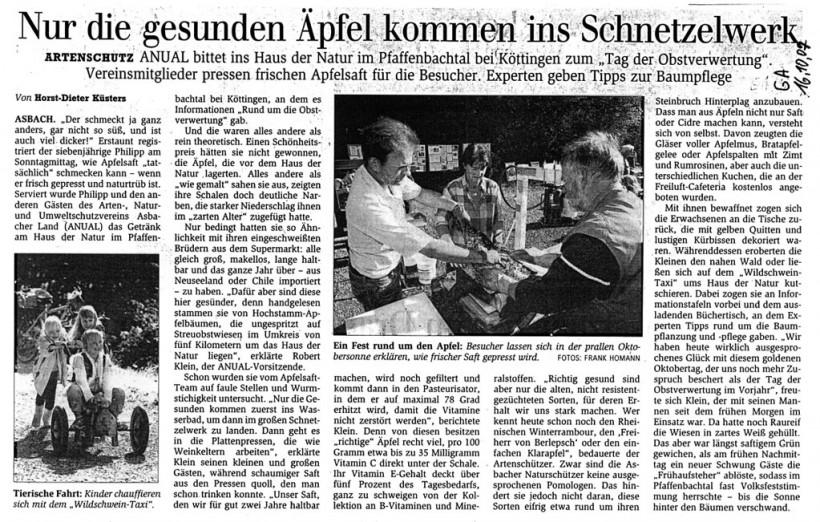 General-Anzeiger 16.10.2007