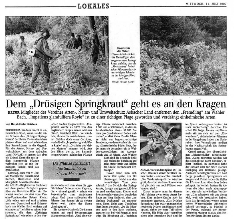 General Anzeiger 11.7.2007