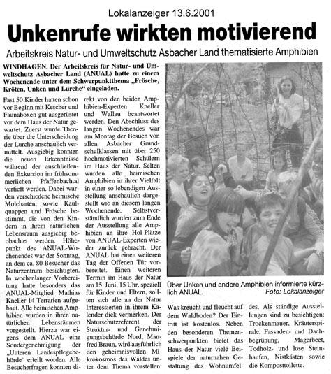 Lokalanzeiger 13.6.2001