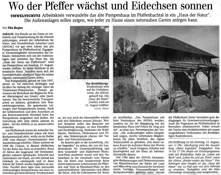 General-Anzeiger 1.8.2000