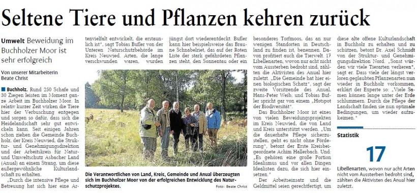 Rhein-Zeitung 11.10.2013