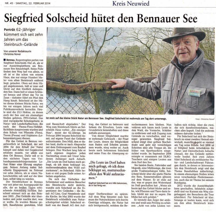 Rhein-Zeitung 22.02.2014