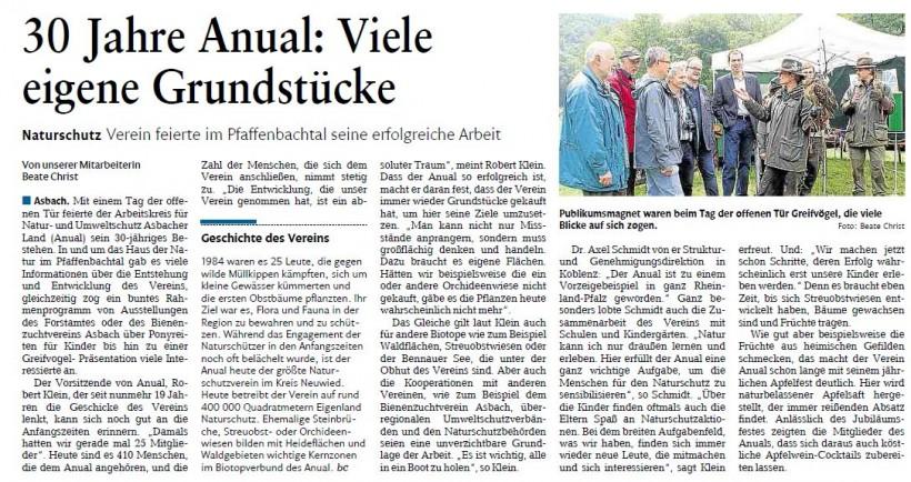 Rhein-Zeitung 1.7.2014