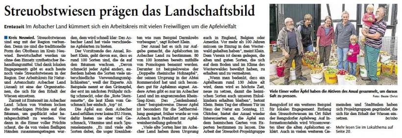 Rhein-Zeitung 30.9.2014