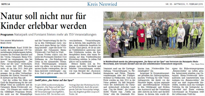 Rhein-Zeitung 11.2.2015