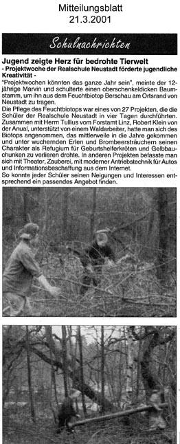 Mitteilungsblatt der VG Asbach 21.3.2001