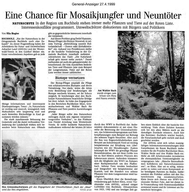 General-Anzeiger 27.4.1999