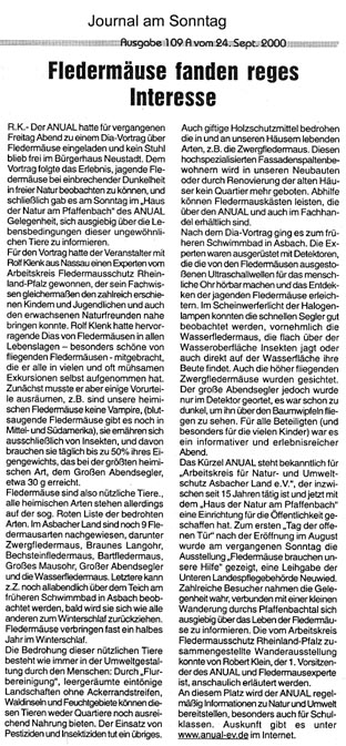 Journal am Sonntag 24.9.2000