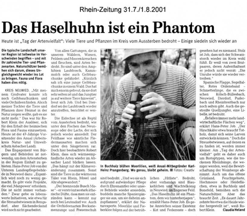 Rhein-Zeitung 31.7./1.8.2004