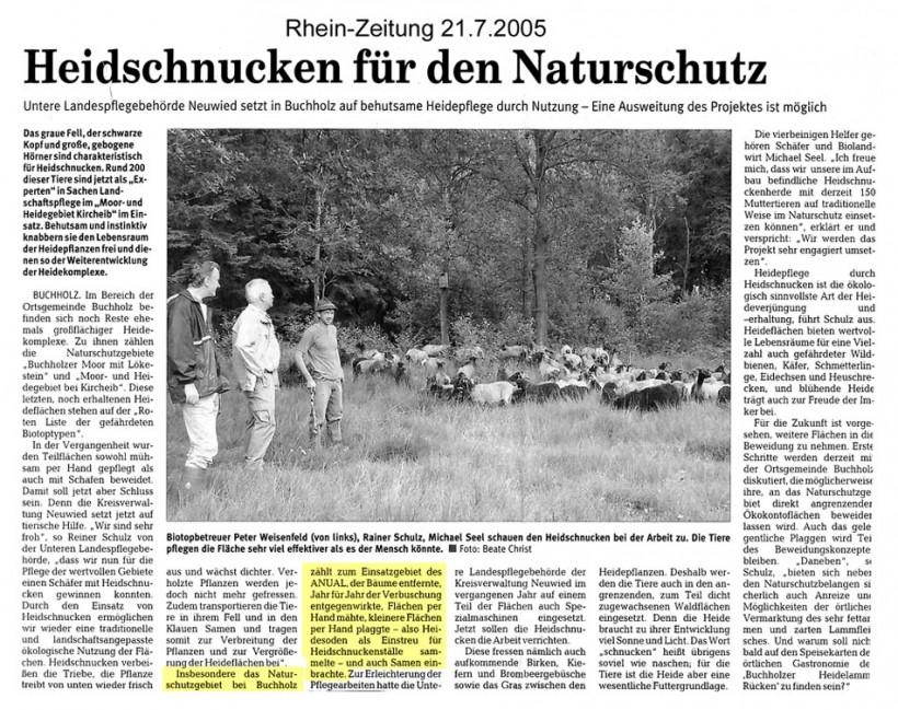 Rhein-Zeitung 21.7.2005