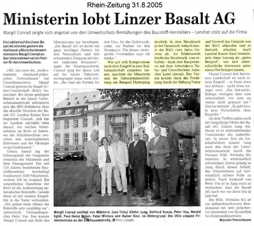 Rhein-Zeitung 31.8.2005