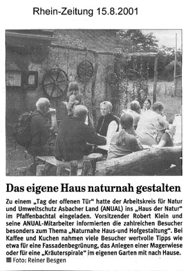Rhein-Zeitung 15.8.2001