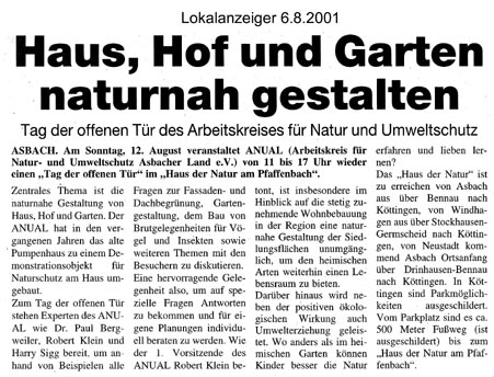 Lokalanzeiger 6.8.2001