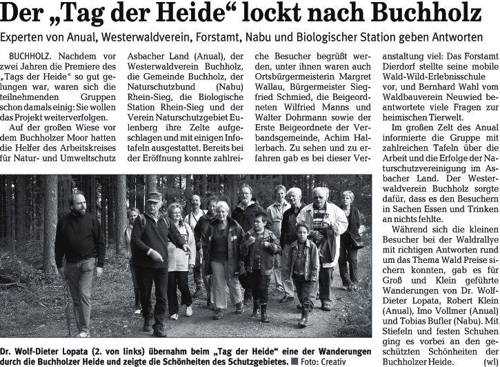 Rhein-Zeitung 9.9.2008